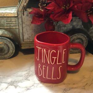 Rae Dunn Red JINGLE BELLS Christmas  Mug